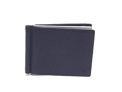 Roncato portafoglio uomo, Prima 411913-23, fermasoldi con tasca e molla in pelle, colore blu
