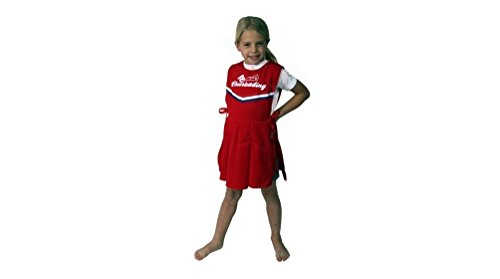 Child Red Cheerleader Pinafore Costume- Standard Size