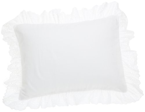 Cheapest Price! Fresh Ideas Eyelet Ruffled Pillow 2 Pack Sham Standard, White