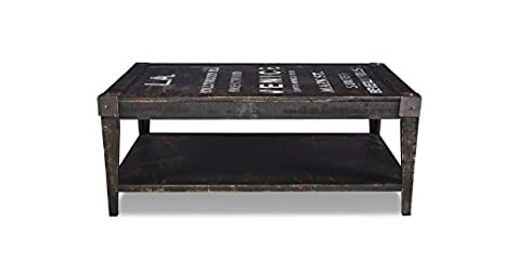 Crafters and Weavers Reclaimed Wood Graffity Coffee Table