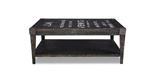 Reclaimed Wood Graffity Coffee Table