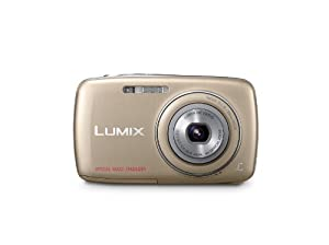 Panasonic Lumix DMC-S1 12.1 MP Digital Camera with 4x Optical Image Stabilized Zoom with 2.7-Inch LCD (Gold)