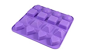 Bakerpan Silicone Chocolate Mold, 16 Cavities, Jelly and Candy Mold, 4 Shapes by Bakerpan