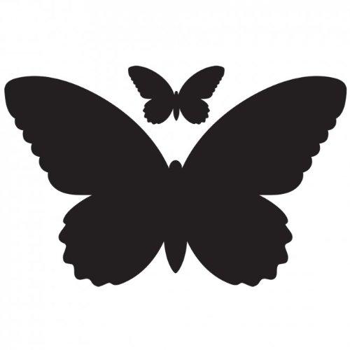 vinilo con textura de pizarra y diseño de mariposas