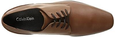 Calvin Klein Men's Brodie Emboss Leather Oxford