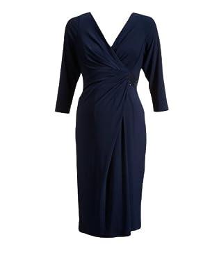 Maternity Slinky Jersey Knot Detail Sequin Dress