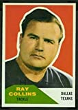 1960 Fleer Regular (Football) Card# 129 Ray Collins of the Dallas Texans ExMt Condition