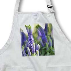 PS Flowers - Twisted Purple Flowers - Summer Floral Print - Aprons