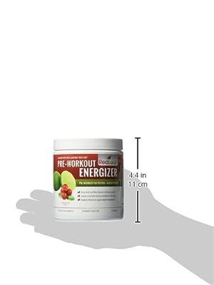 Red Leaf Pre-Workout Energizer - Best Tasting Pre-Workout Supplement with Beta-Alanine, BCAAs, Glutamine, L-Arginine, Cranberry Extract, Green Tea - Natural Cranberry Lime Flavor - 30 Servings