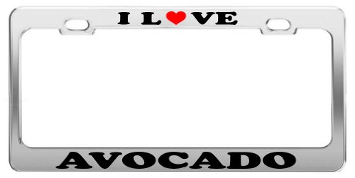 I LOVE AVOCADO License Plate Frame Car Truck