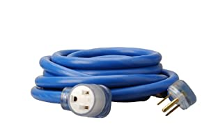 Coleman Cable 1917 8/3 STW 6-50 Welder Extension Cord, Blue, 25-Feet by Coleman Cable