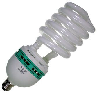 Full Spectrum Light Bulb - Alzo 85 Watt Compact Fluorescent Cfl - 5500K- Alzo Joyous Light Daylight Pure White Light - 4250 Lumins