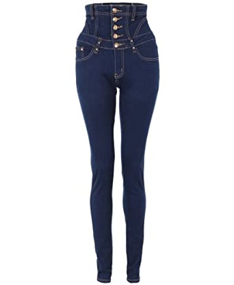 KRISP High Waisted Skinny Slim Jeans Trousers Pants Sexy Dark Wash Stretch 2025 (Indigo,8)