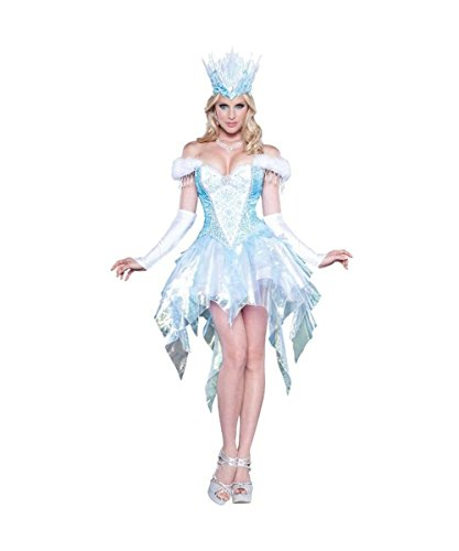 Winter Wonderland Sexy Frozen Ice Princess Snow Queen Womens Costume