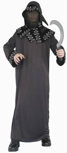 New Teen Costume Boys Dark Messenger Grim Reaper Outfit
