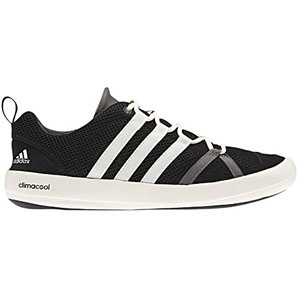 Adidas Outdoor Boat CC Lace Water Shoe - Mens Solid Grey/Chalk/Sharp Grey, 8.5