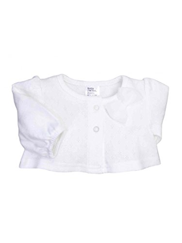 Baby Infant Girls Pointelle Cardigan With A Bow By Baby Starters - White - 6 Mths / 12-16 Lbs front-997381