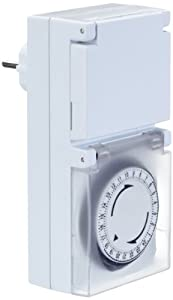 Bachmann 852.102 Mechanische Zeitschaltuhr 24h, Spritzwasserschutz