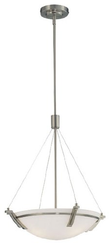 B002LGV6GS Lite Source LS-19031PS Silvia 16-Inch Ceiling Lamp, Polished Steel with Frosted Glass