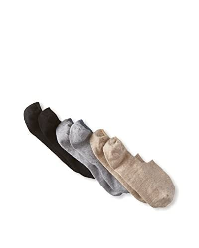 Etiquette Men's No Show Socks - 3 Pack, Multi, One Size
