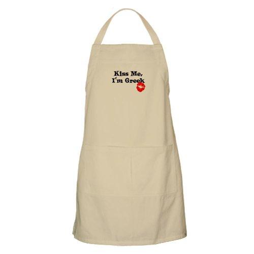 Cafepress Kiss Me, I'M Greek BBQ Apron - Standard