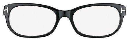 Tom Ford Ft5229-001 Shiny Black Eyeglasses Size: 54