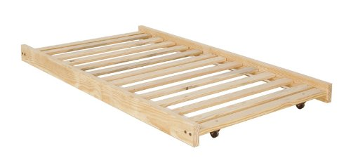 Twin Size Trundle Bed Frame Unfinished Wood 100 Madeintheusa Com