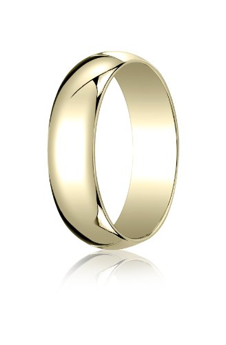 18K Yellow Gold, 6.0mm Traditional Dome Oval Ring (sz 10)