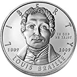 Louis Braille Bicentennial Uncirculated Commemorative Silver Dollar (BR2) 2009 Philadelphia