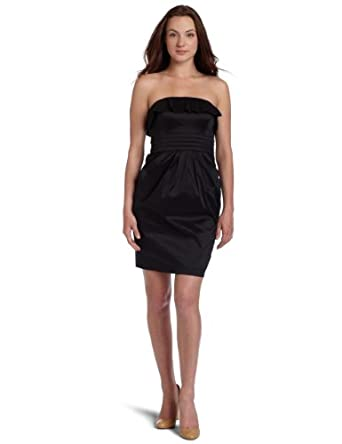 Jessica Simpson  Women's Strapless Dress,Black,2