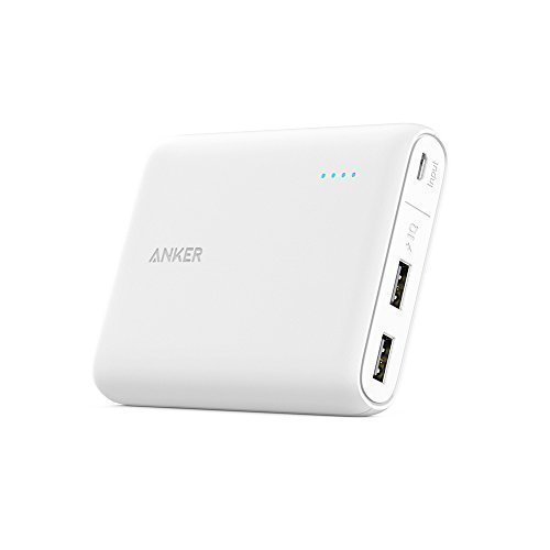 Anker PowerCore 13000 (13000mAh 2ポート 大容量 モバイルバッテリー パナソニックセル搭載) iPhone / iPad / Xperia / 新しいMacBook / Android各種他対応 コンパクトサイズ 【PowerIQ & VoltageBoost搭載】 ホワイト