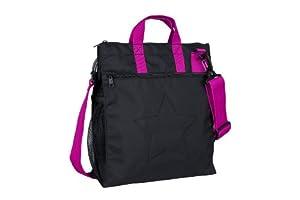 Lässig - Bolsa compacta, color negro y rosa por Lässig