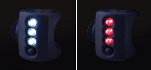 Knog Gekko Twin Pack Headlight & Taillight Combo - Black Body.