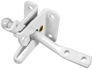 national hardware v25 swinging door latch white gate