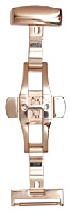 Hadley-Roma 18-mm 14K Rose Gold-Plated Push Button Deployment