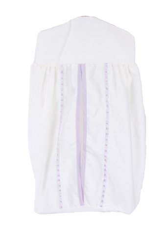Baby Doll Unique Crib Diaper Stacker, Lavender front-1003597