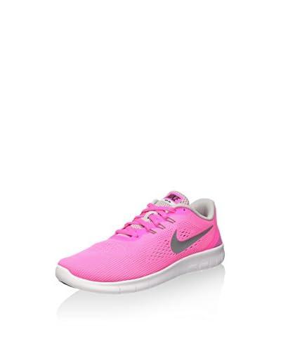 Nike Zapatillas Free RN (GS) Rosa