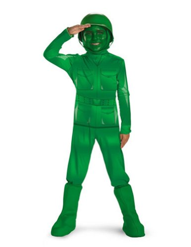 Green Army Man Deluxe 4-6 Kids Boys Costume
