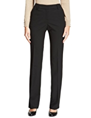 M&S Collection New Wool Rich Straight Leg Trousers