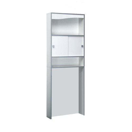 nabila shop meuble wc machine laver blanc chants gris 6091a7321m17. Black Bedroom Furniture Sets. Home Design Ideas