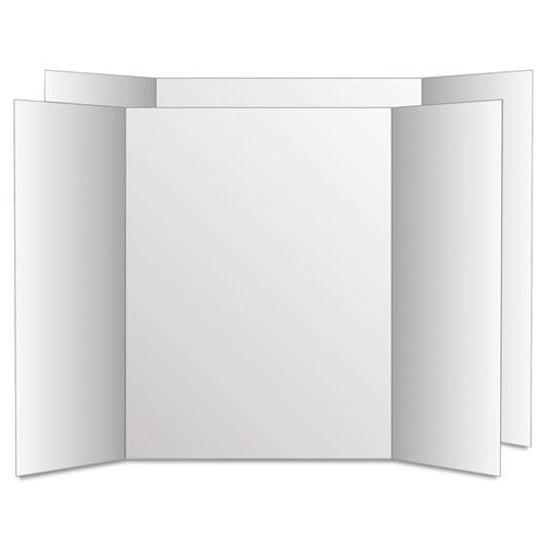 ... Too Cool Tri-Fold Poster Board, 24 x 36, White/White GEO27367