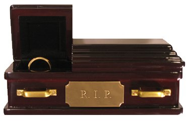 Wedding Ring Coffin - RIP