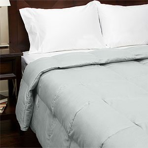 300TC Sateen Down Alternative Comforter , Twin, Light Blue