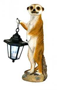 Meerkat with Solar Lantern Ornament