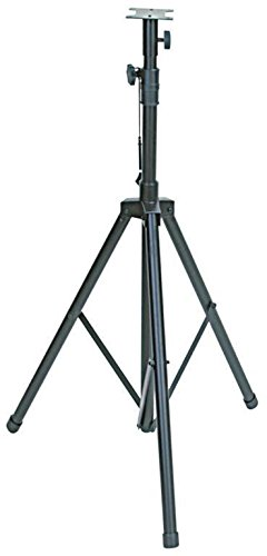 DJ / PA Speaker Stands - Adjustable, Collapsible Tripod Base, Lightweight & Sturdy - Ideal For Professional DJ's & Home Entertainment Systems -Black- By GMI Pro