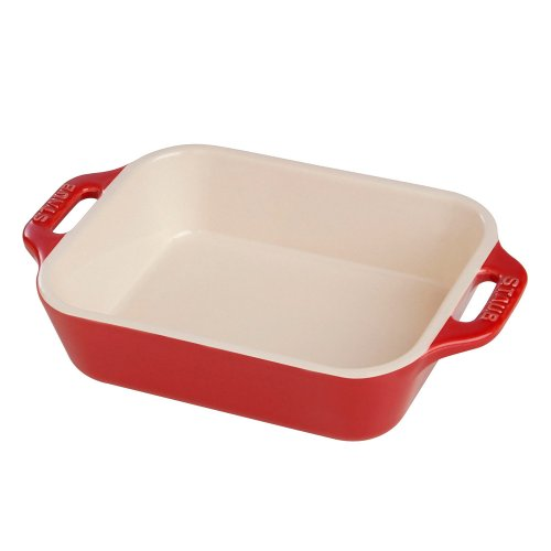 "Staub Ceramic Rectangular Dish - 10.5"" X 7.5"" (Cherry) front-510119"