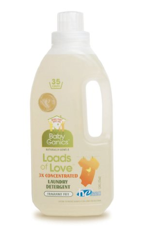 BabyGanics Loads of Love 3x Concentrated Laundry Detergent, Unscented, 35-Fluid Ounce Bottle
