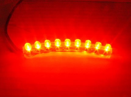 CITI RED 9 LED NEON MOTORCYCLE / CAR / BOAT / HOME / POD LIGHT BRIGHT ACCENT GLOW 9LED FLEXIBLE WATER PROOF
