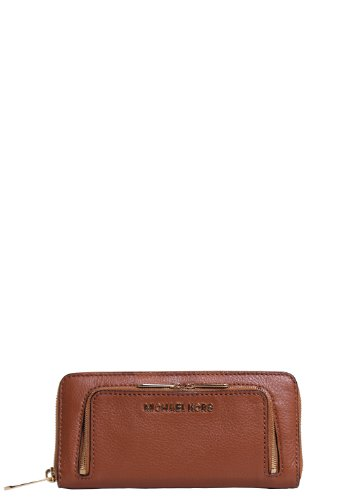 Michael Kors Bedford Double Zip Wallet In Luggage