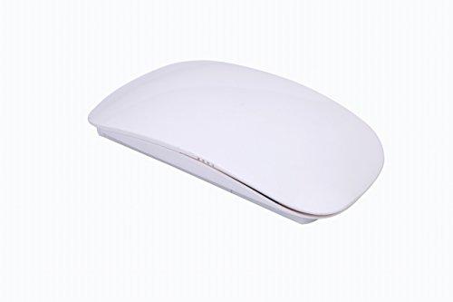 アップフェル 超薄型 スリム ワイヤレスタッチマウス 2.4GHz光学式マウス タッチセンサーレーザーマウス Windows用 ホワイト シンプルデザイン